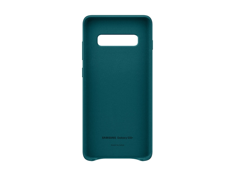 Чехол Galaxy S10+ Leather Back Cover (Зеленый)