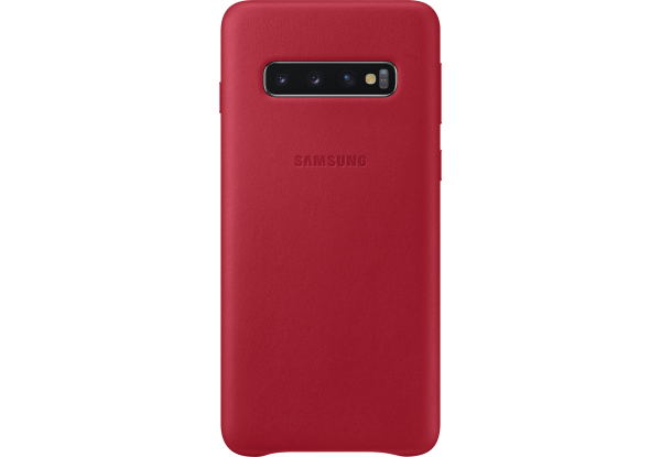 Чехол Samsung S10 Leather Cover Red