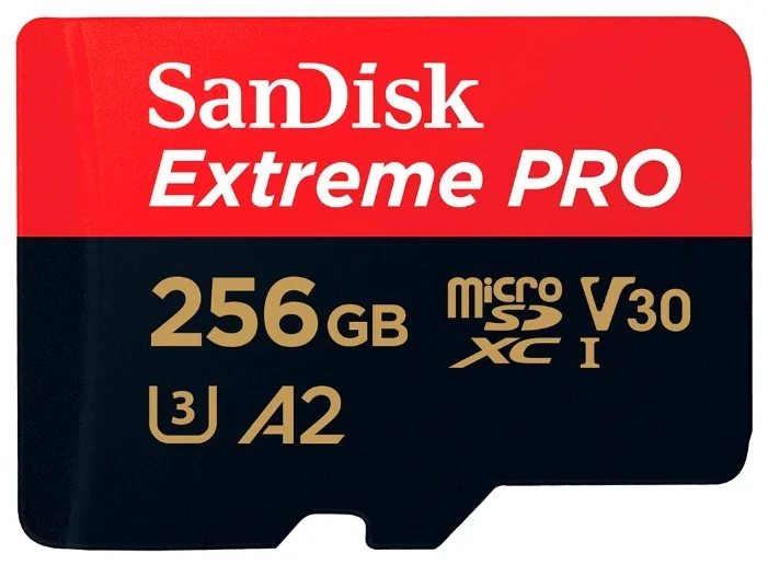 Карта памяти SanDisk Extreme Pro microSDXC Class 10 UHS Class 3 V30 A2 170MB/s 256GB + SD adapter